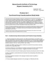 Functional Group Transformations Study Guide, Exercises - Organic Chemistry