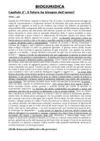 Riassunti lezioni di BIOGIURIDICA - Rif: Salvatore Amato