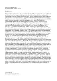 MEDICINA E SALUTE- LO SPAZIO DELL'EDUCATIVO, Riassunto di Capunzo