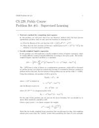 Assignment - Supervised Learning - Machine Learning - 1