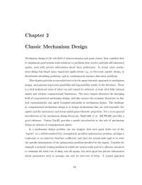 Classic Mechanism Design, Lecture Notes - Computer Science