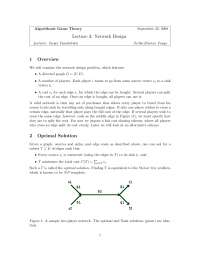 Network Design, Lecture Notes - Computer Science