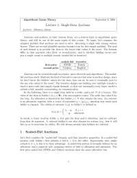 Single-Item Auctions, Lecture Notes - Computer Science