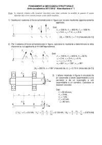 Esercitazione Fondamenti di Meccanica Strutturale