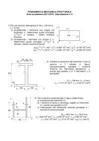 Esercitazione di Meccanica Strutturale n5 Geometria delle Aree