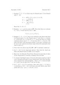 Limits and Continuity, Exercises - Advanced Calculus