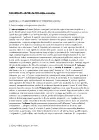 Dispense di Diritto ed Interpretrazione dal Viola Zaccaria