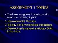 Childhood Development-Lecture Slides 02-Psychology