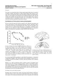 Cognitive Neuroscience-2003 Lecture Handout 05-Psychology