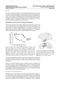 Cognitive Neuroscience-2004 Lecture Handout 05-Psychology