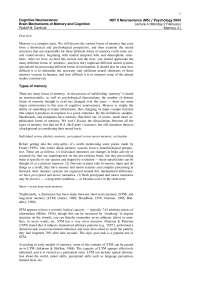 Cognitive Neuroscience-2004 Lecture Handout 04-Psychology