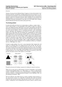 Cognitive Neuroscience-2004 Lecture Handout 03-Psychology