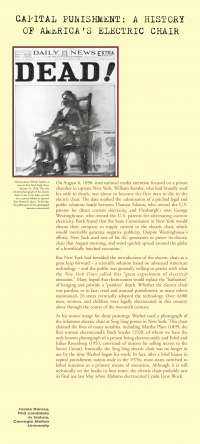 Capital Punishment A history of America's Electric Chair - Lecture Note - American History - Jessie Ramey