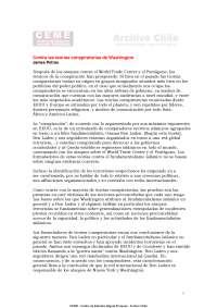 Contra las teorias conspiratorias de Washington  - Lecture Note - American History - James Petras