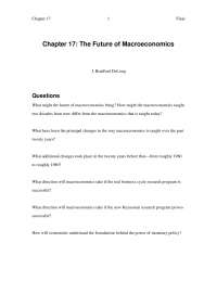 Introduction to Macroeconomics -Chapter 17-Book Summary-Sociology