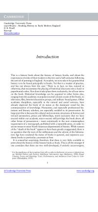Introduction - Lecturer Notes - United Kingdom History - D. R. Woolf - Part1