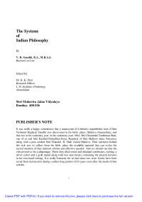 The Systems of Indian Philosophy - Book Summary - Indian literature - V. R. Gandhi