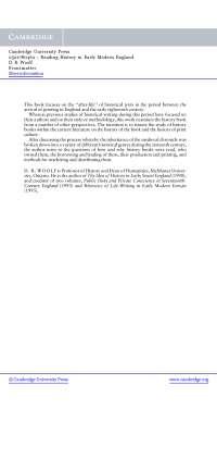 Frontmatter - Lecturer Notes - United Kingdom History - D. R. Woolf - Part2