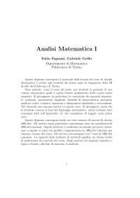 Dispensa Analisi Matematica, Fagnani Grillo Politecnico Torino
