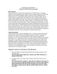Literature Circle Guide to Indian Captive - Book Summary - Indian Literature - Lois Lenski