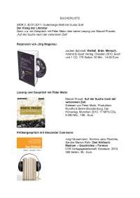 Bücherliste - Lecture Notes - United State Literature - Der Klang Der Literatur