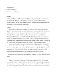 Week 3 Assignment 2 - Lecture Notes - United State Literature - Stephanie Imes