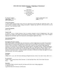 British LiteratureùBeginnings to Neoclassical Fall 2010 - Lecture Notes - United State Literature - Dr. Ranjana Varghese