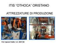 Le Attrezzature di Produzione - Slide - Costruzione Di Macchine - Peddis
