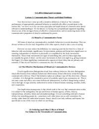 Ritual and Ceremony-LectureNotes  3-Sociology