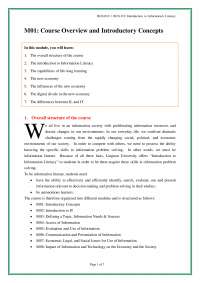 Introduction  to  Information  Literacy-Lecture 01 Notes-Literature