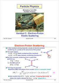 Particle Physics Part III-Handout 05 2004-Physics