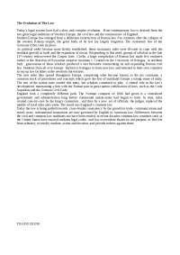 The Evolution of The Law - Riassunto - English Literature