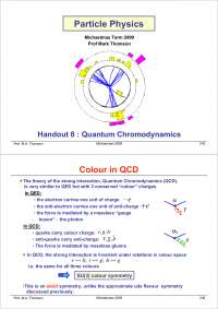 Particle Physics Part III-Handout 08 2004-Physics