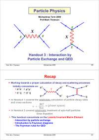 Particle Physics Part III-Handout 03 2004-Physics
