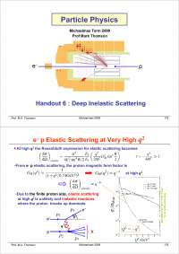 Particle Physics Part III-Handout 06 2004-Physics