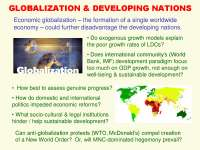 Globalization and Developing Nations Economic Sociology-Lecture-Sociology