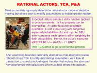Rational Actors, TCA, P and A-Economic Sociology-Lecture-Sociology
