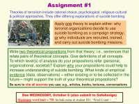 TERRORIST NETWORKS AND COUNTERTERROR ORGANIZATIONS-Assignment 01-Sociology