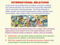 International Relations-Social Network Analysis Theories and Analysis-Lecture-Sociology
