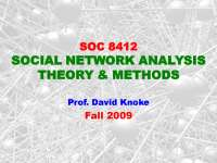 Introduction to Network Analysis-Social Network Analysis Theories and Analysis-Lecture-Sociology