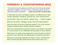 Terrorist and Counterterror Organizations-ORGANIZATIONS AND SOCIETY-Lecture-Sociology