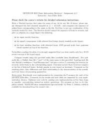 Music Information Retrieval-Assignment 03 Fall 2011-Literature