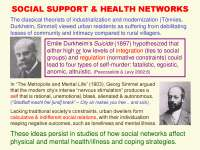 Social Network Analysis Theories and Analysis-Lecture[SOCIAL_SUPPORT_AND_HEALTH_NETWORKS]-Sociology
