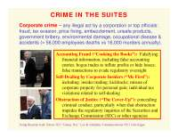 Crime in the Suites and Corporate Social Responsibility-ORGANIZATIONS AND SOCIETY-Lecture-Sociology