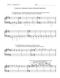 Harmony and Counterpoint I-Assignment 15-Music and Theater Arts Literature