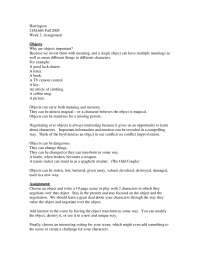 Playwriting I-Assignment 02-Music and Theater Arts Literature