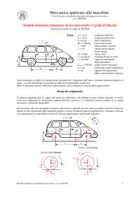 D02 - modello dinamico auto 1 gdl