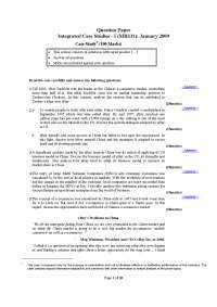 Integrated Case Studies - Exam Paper January 2009- MBA, ICFAI, Past Exams for Integrated Case Studies