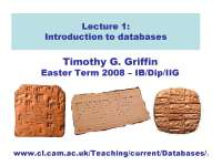 Introduction to Databases-Databases-Lecture 01 Slides-Computer Science