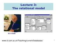 Relational Model-Databases-Lecture 03 Slides-Computer Science